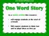 One Word Story Starter Activity (slide 2/9)